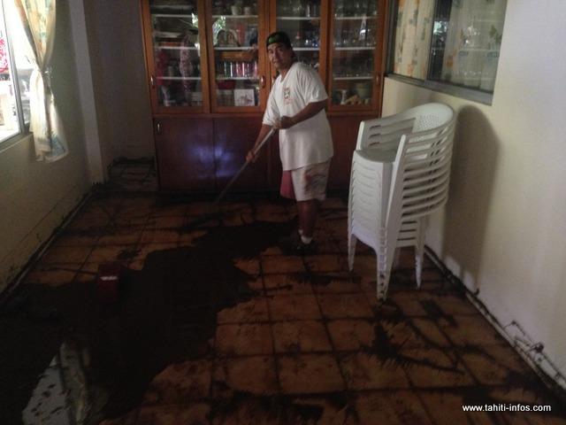 Chez Moeata et sa famille, toutes les pièces de la maison ont été inondées