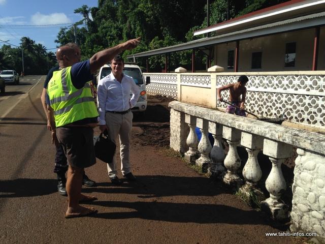L'administrateur des îles du vent, Christophe Lotigié est venu constater les dégâts ce mardi matin
