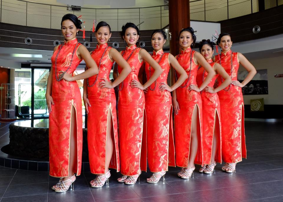 Samedi dernier, les sept jeunes femmes candidates au titre de Miss Dragon 2016 sont passées devant le jury. ©Ryan Fong