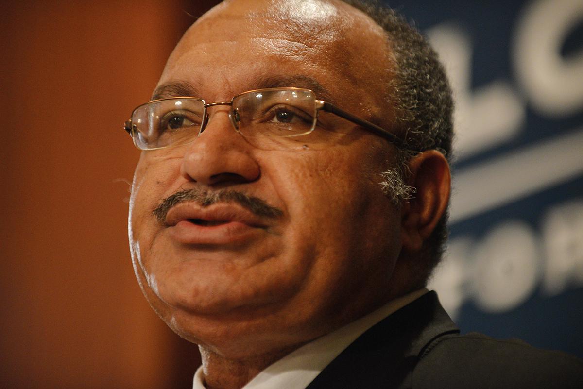 Peter O'Neill, Premier ministre de Papouasie-Nouvelle-Guinée.