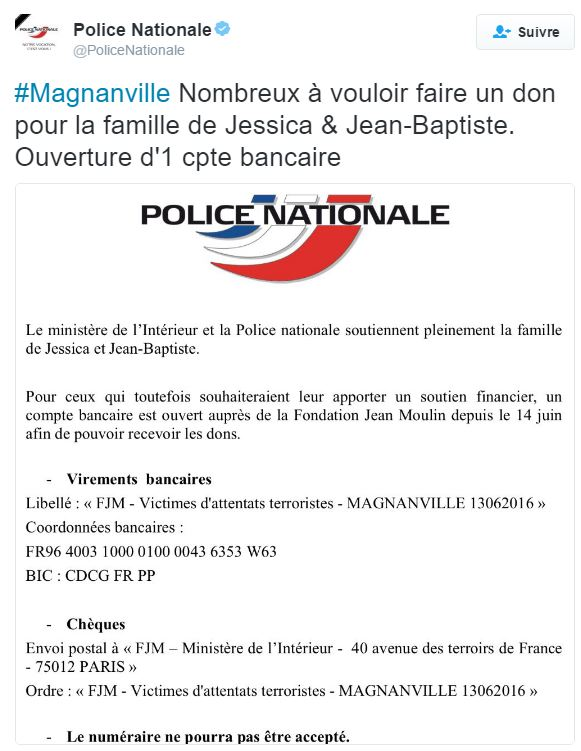 Policiers assassinés en métropole : la DSP relaie l'appel aux dons pour aider la famille