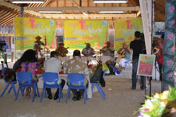 """: Pour la première édition du concours """" te ta'i mauriuri"""" 13 groupes d'orchestre ont concouru hier sous le """"fare"""" artisanal de la mairie de Faaa"""