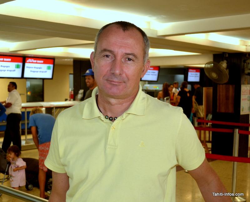 Eric Dumas, directeur d'Aéroport de Tahiti, le concessionnaire en charge de la gestion de l'aéroport