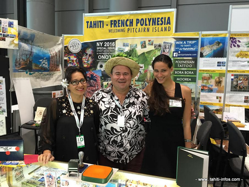 Sarah et l'équipe OPT au Javits Convention Center de NYC.