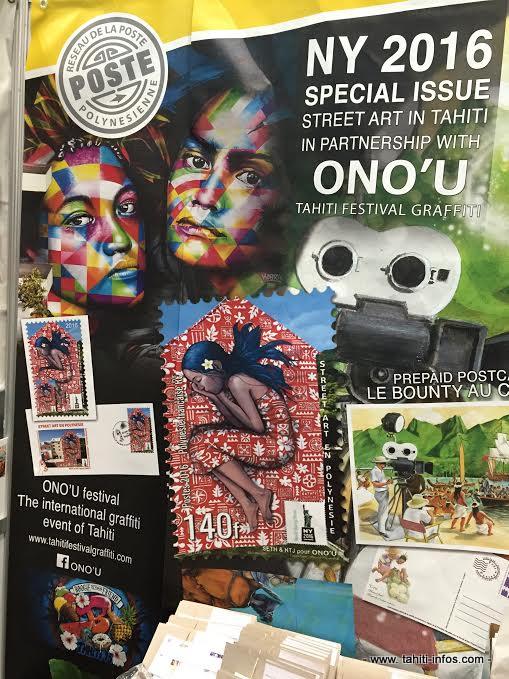 """Le timbre """"street-art"""" en Polynésie à la conquête de New-York [Vidéo]"""