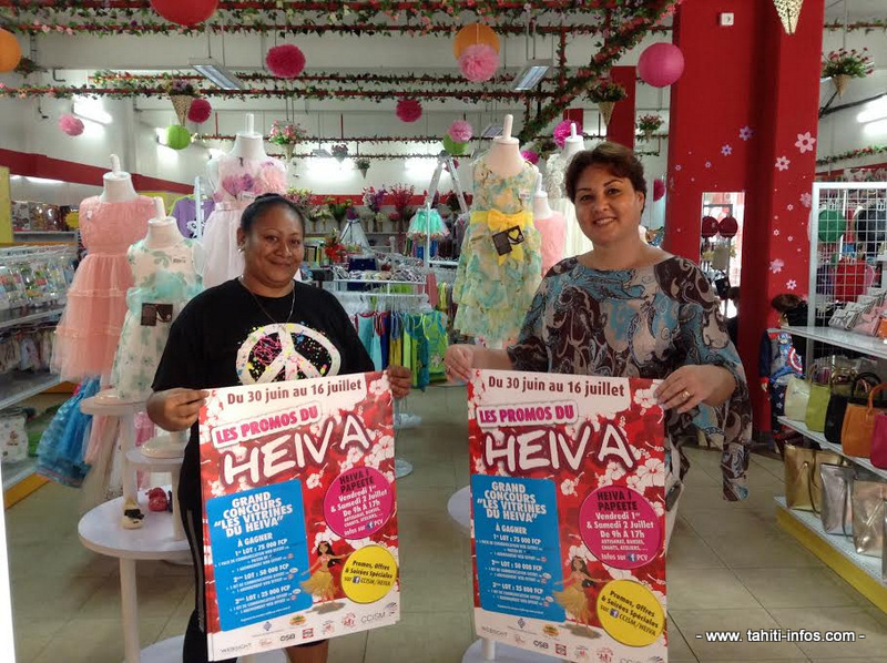 Les commerçants participant au Heiva.