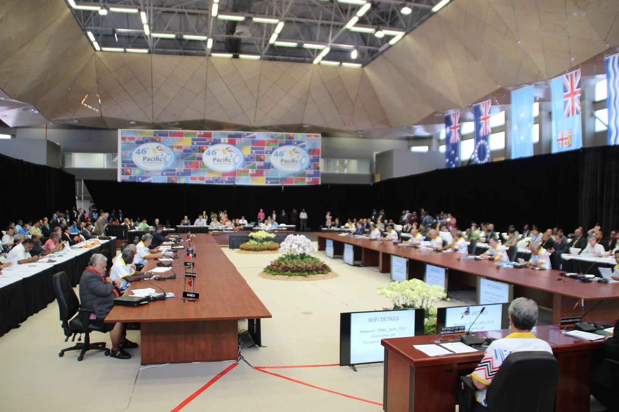 Les leaders du Forum des îles du Pacifique à Port-Moresby en 2015