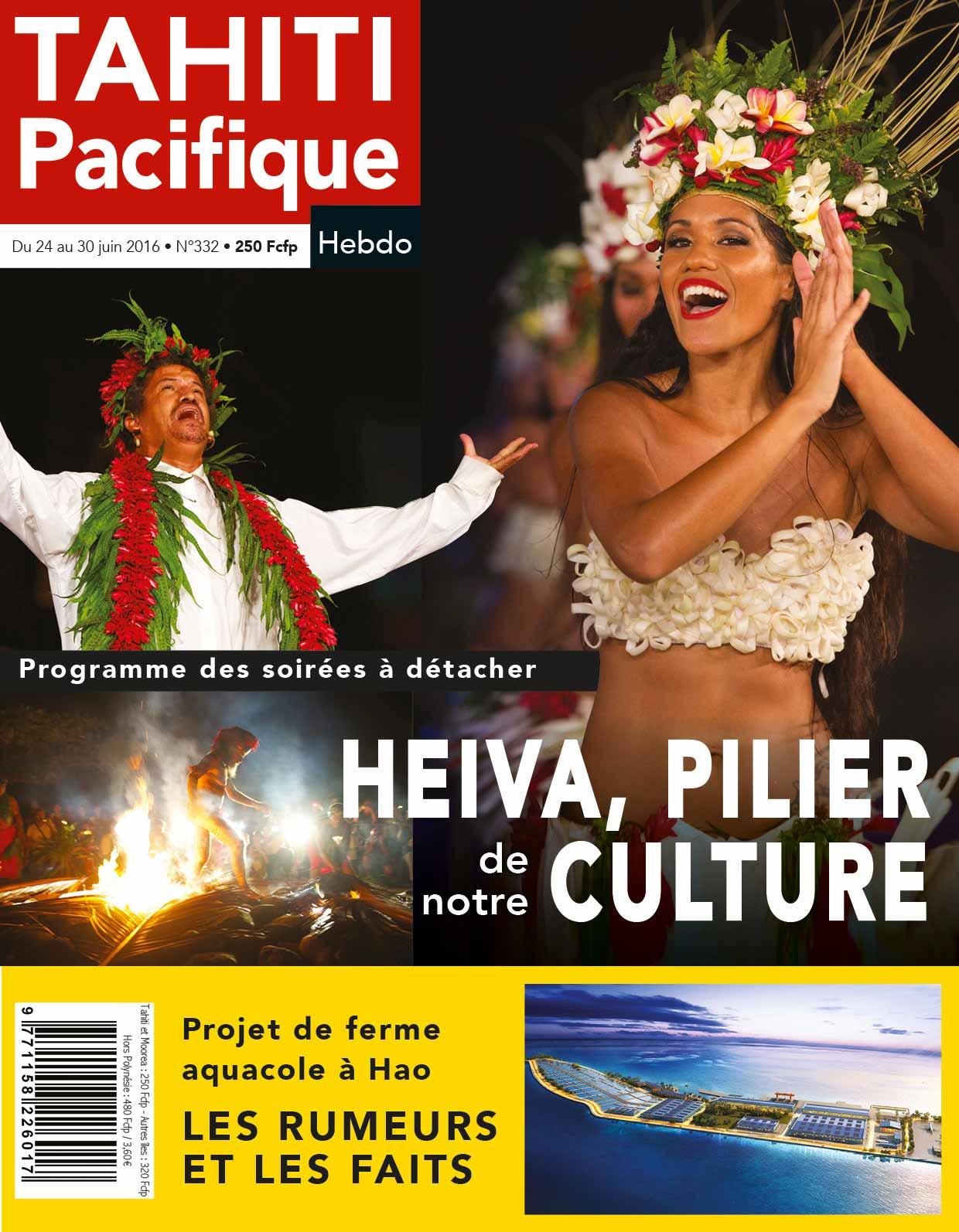 À la Une de votre Tahiti Pacifique Hebdo du 24 juin