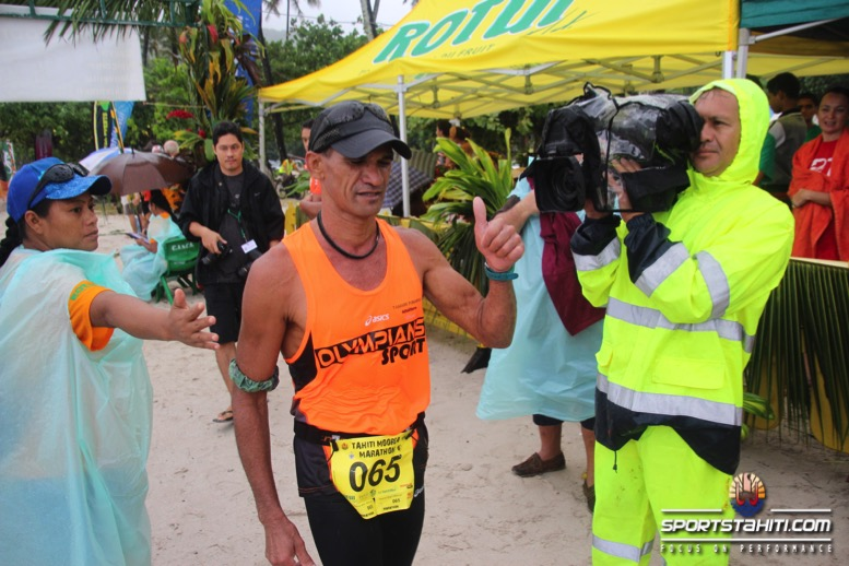 Georges Richmond, 2e lors du dernier marathon de Moorea