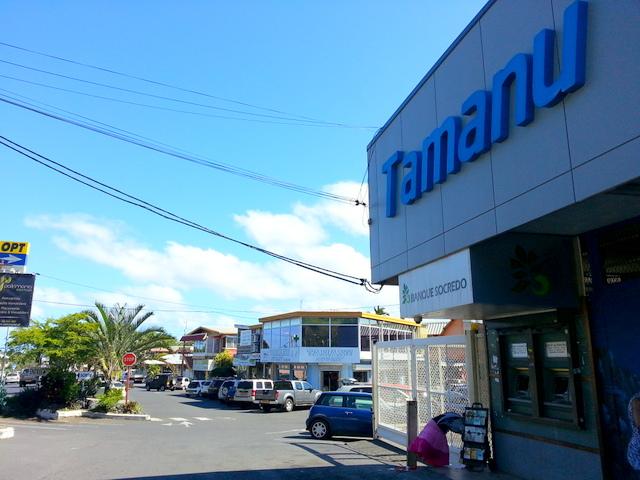 Le centre commercial Tamanu est au PK 14,8.