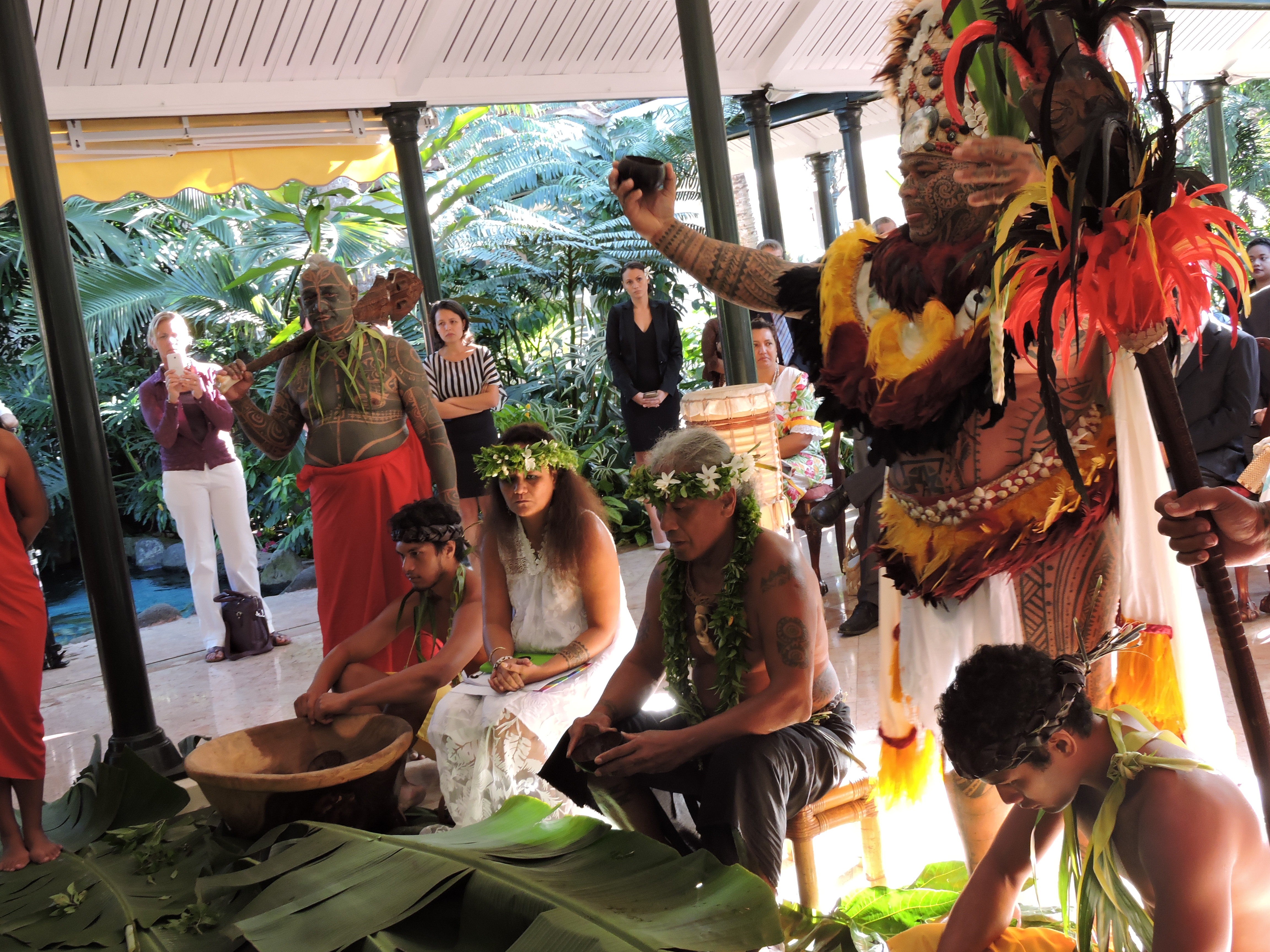 Une cérémonie du kava a été organisée mardi matin.