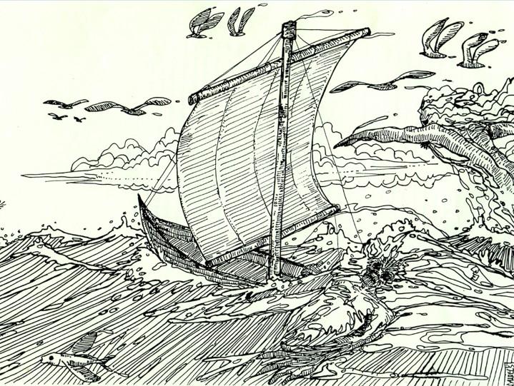 Mahina, Le bateau fantôme de Hao