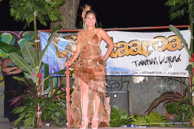 Monoihere Chebret a remporté le prix du plus beau costume végétal