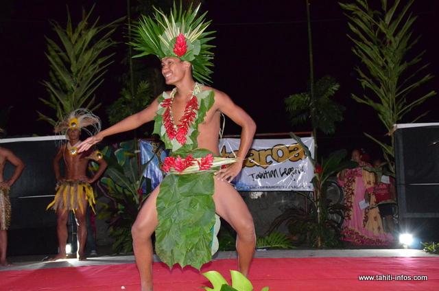 Le prix du meilleur costume végétal pour les garçons a été attribué à Heiarii Teoru, Mister Mini-Heiva