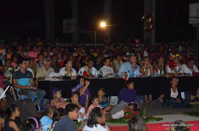 Le public s'est déplacé en masse pour encourager leurs candidats