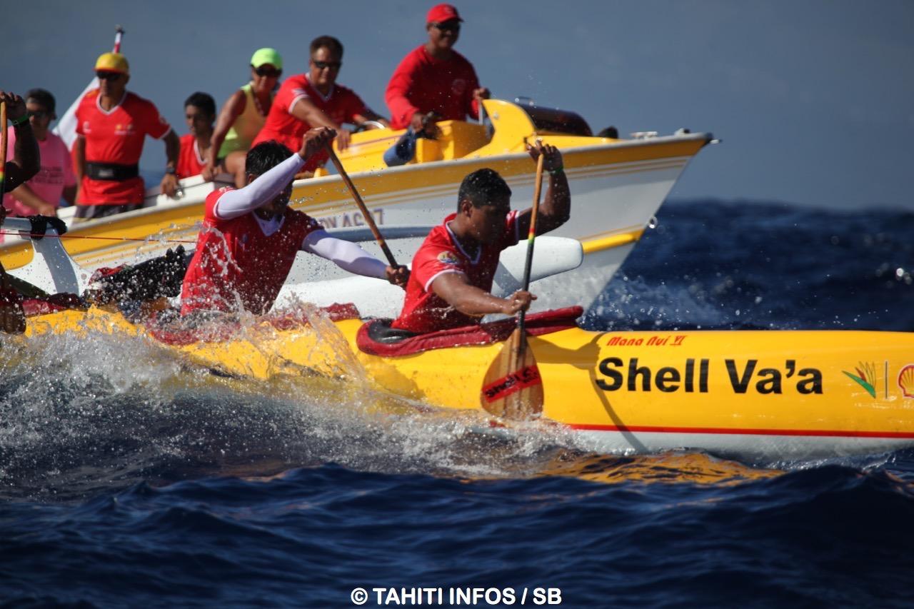 Shell Va'a a toujours apprécié cette course du Fa'ati Moorea, une course pour la culture (arch)