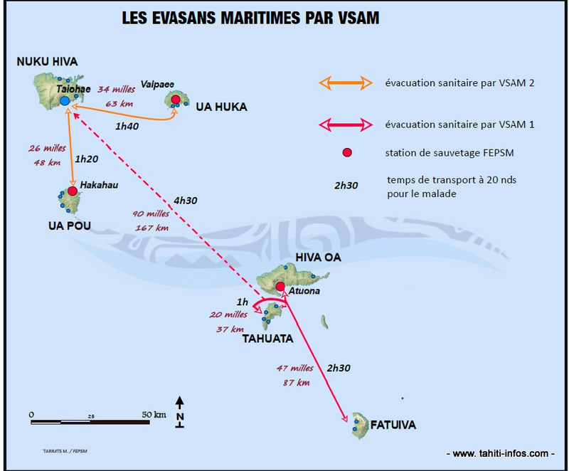 Schéma proposé d'organisation opérationnelle des évacuations sanitaires maritimes par VSAM (FEPSM).