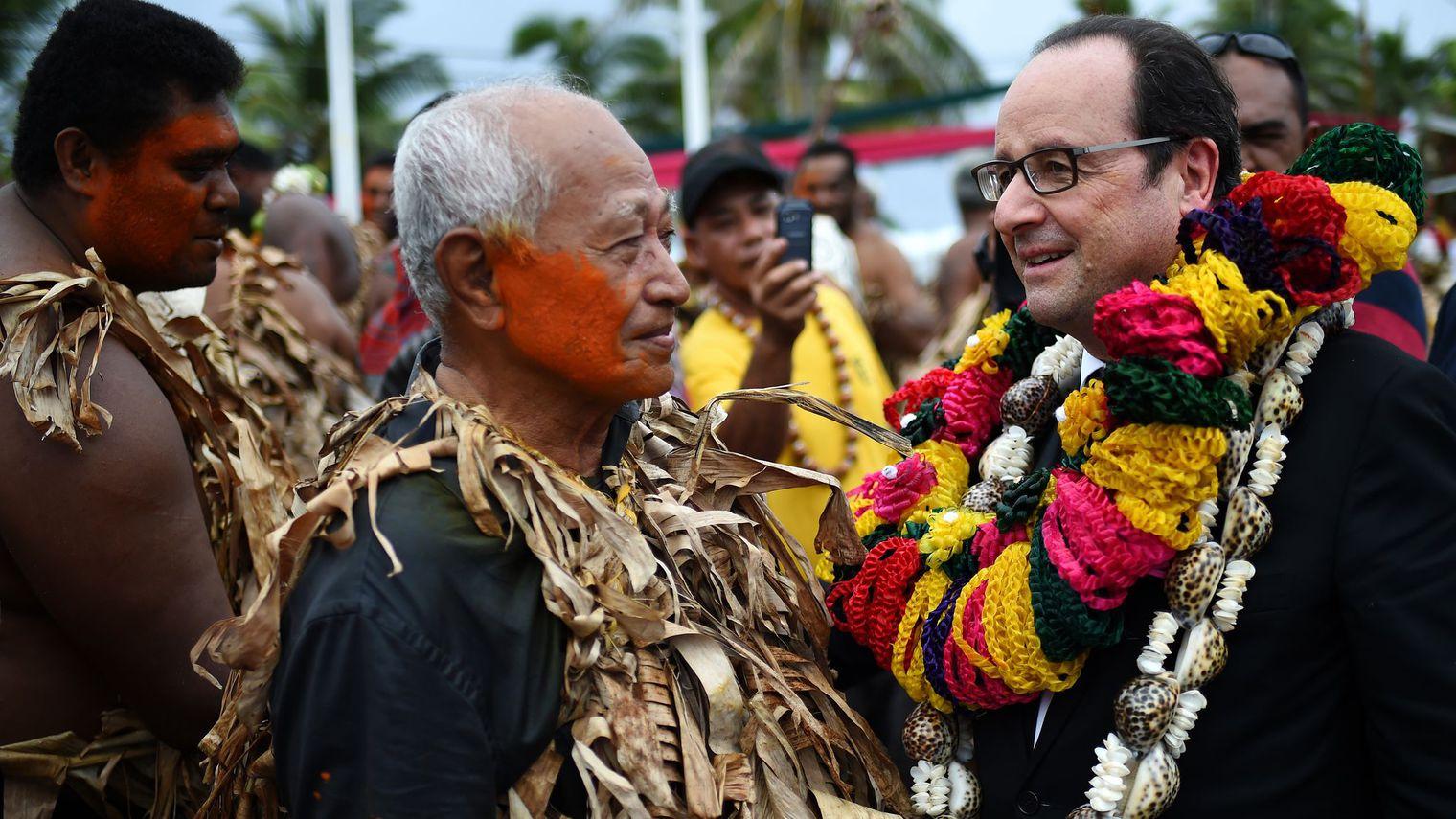 François Hollande lors de sa visite officielle à Wallis en février dernier