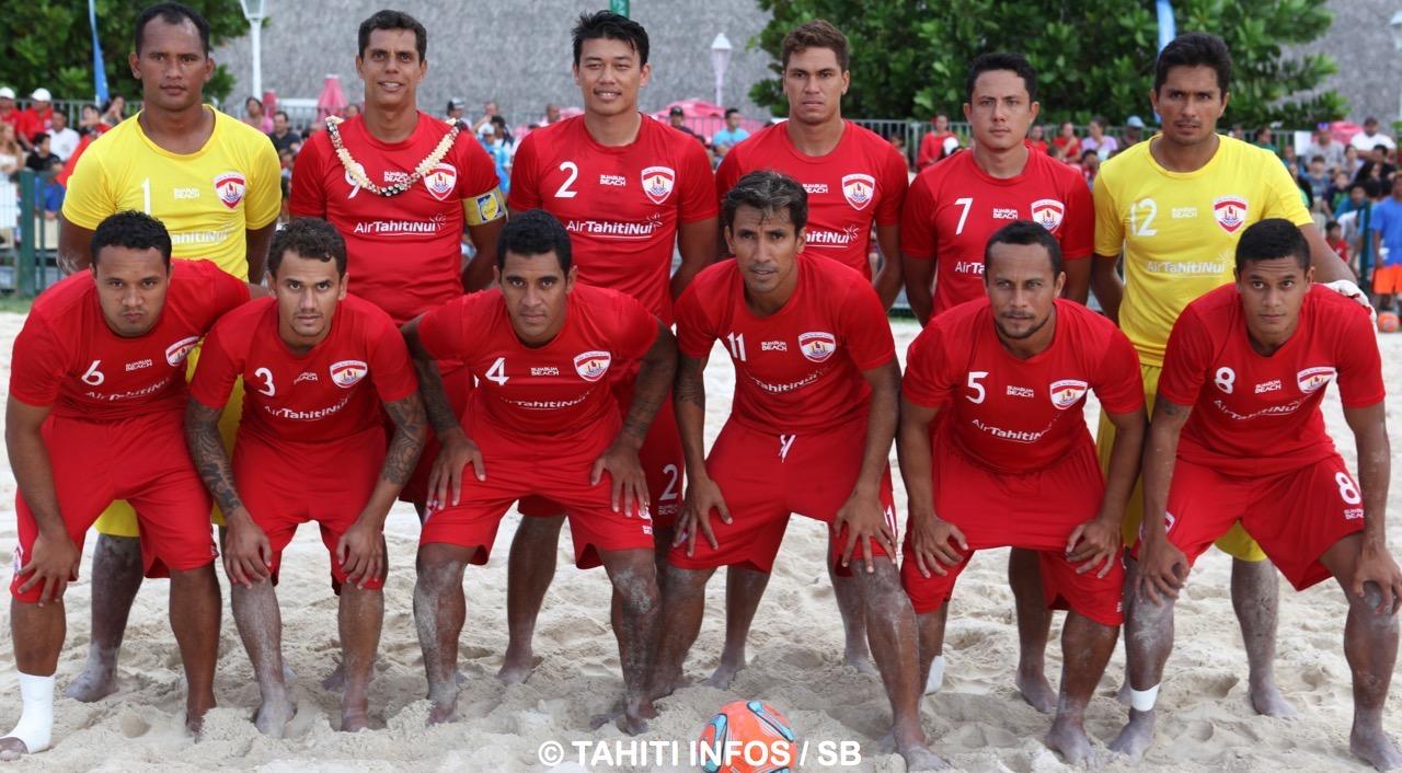 Les Tiki Toa lors de leur dernier match à Tahiti en mai 2015