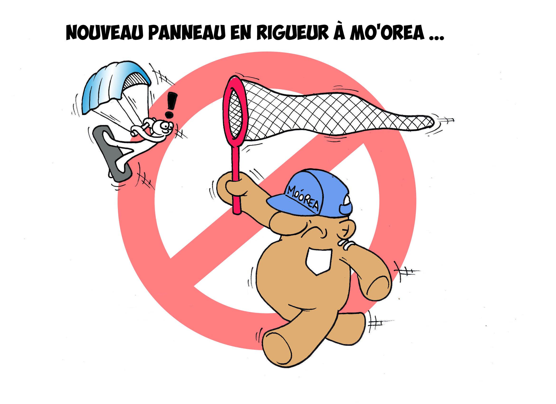 """""""Le kitesurf à Moorea"""" par Munoz"""