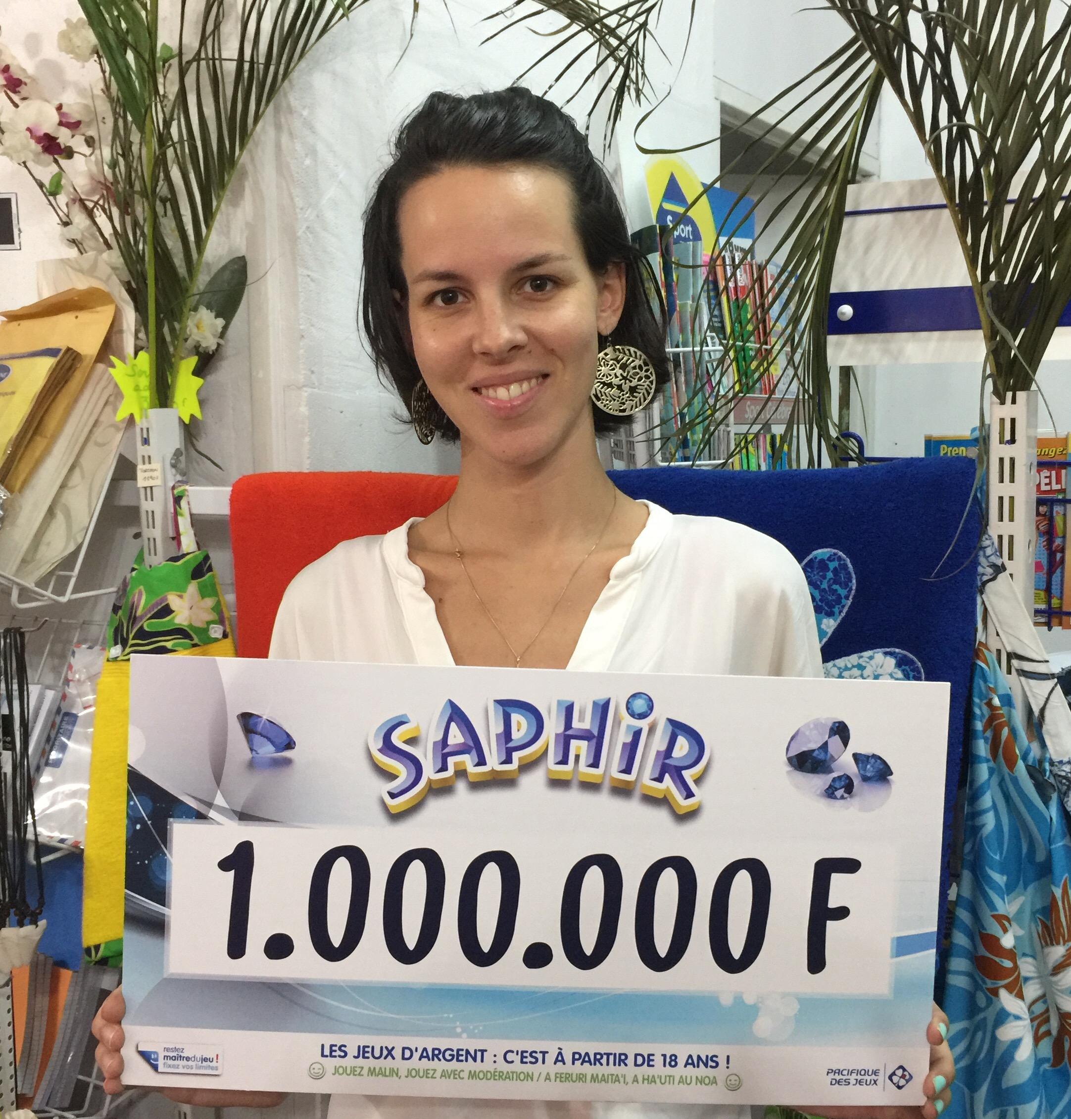 Taravao: Une jeune gagnante décroche 1 Millions F avec un Saphir