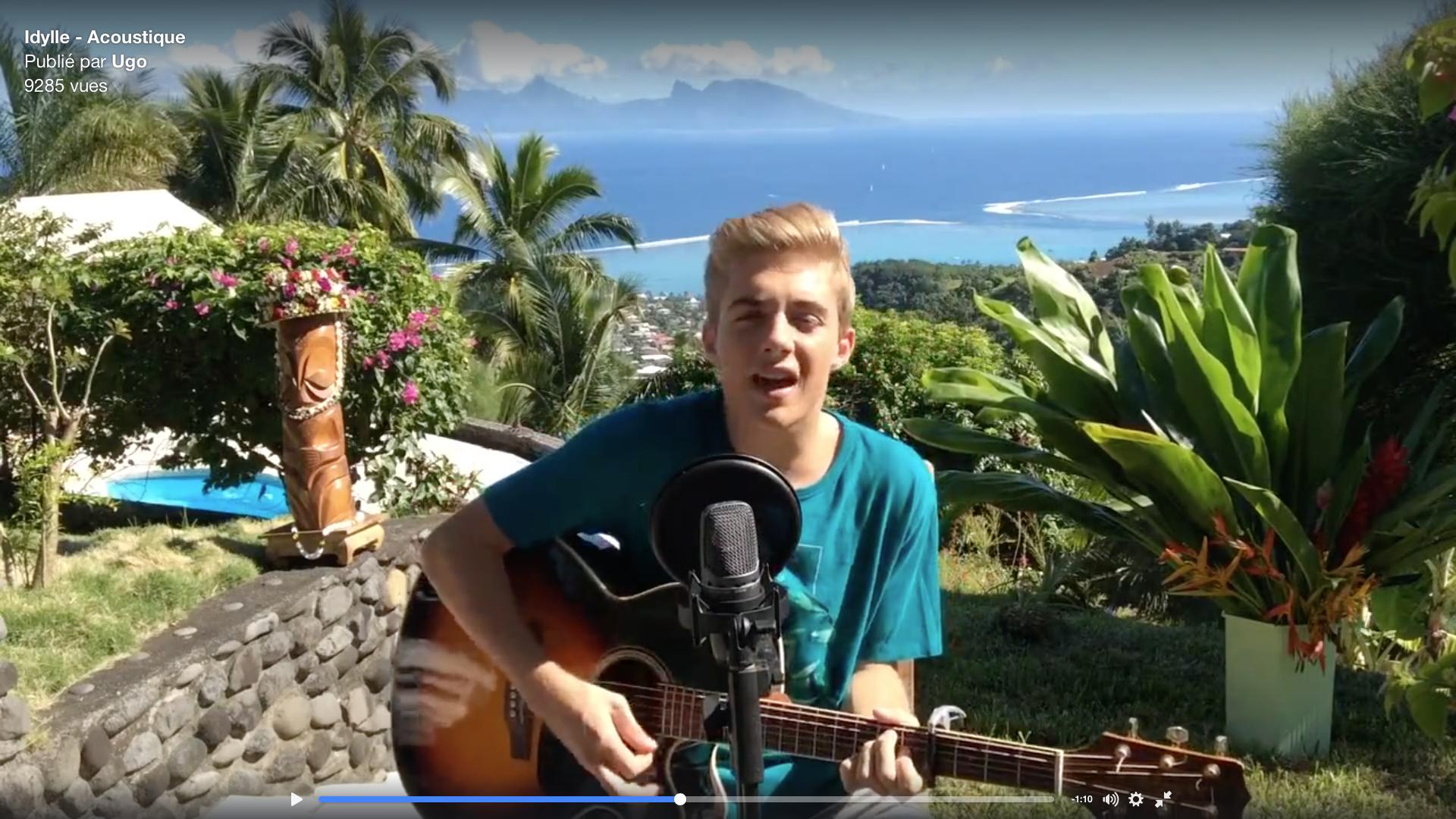 Le jeune homme de 18 ans a posté une vidéo sur sa page Facebook pour offrir à ses fans un avant-goût de son prochain opus.