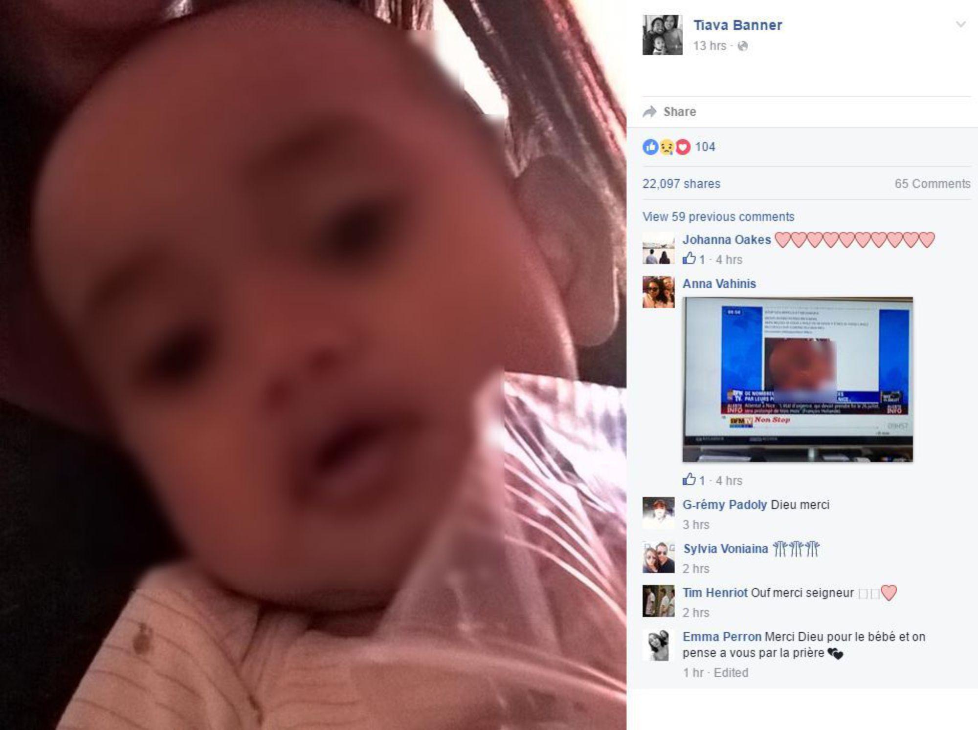 Nice: une famille retrouve son bébé sain et sauf grâce à Facebook