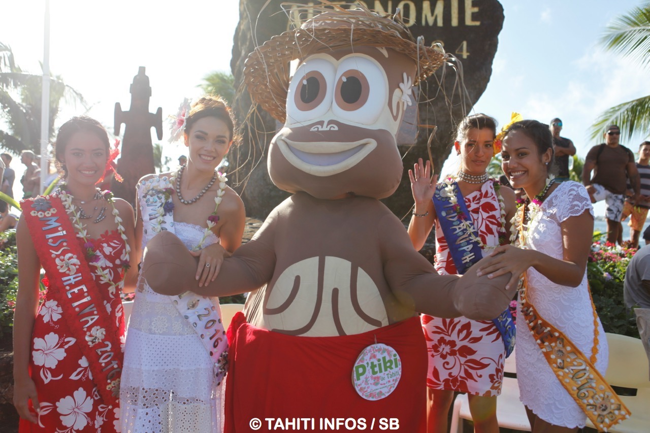 Miss Tahiti et ses dauphines étaient de la partie