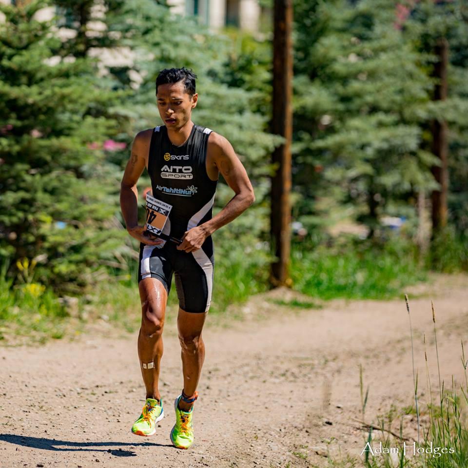 Cédric a pu terminer la course en 1e position chez les amateurs, malgré une chute à vélo