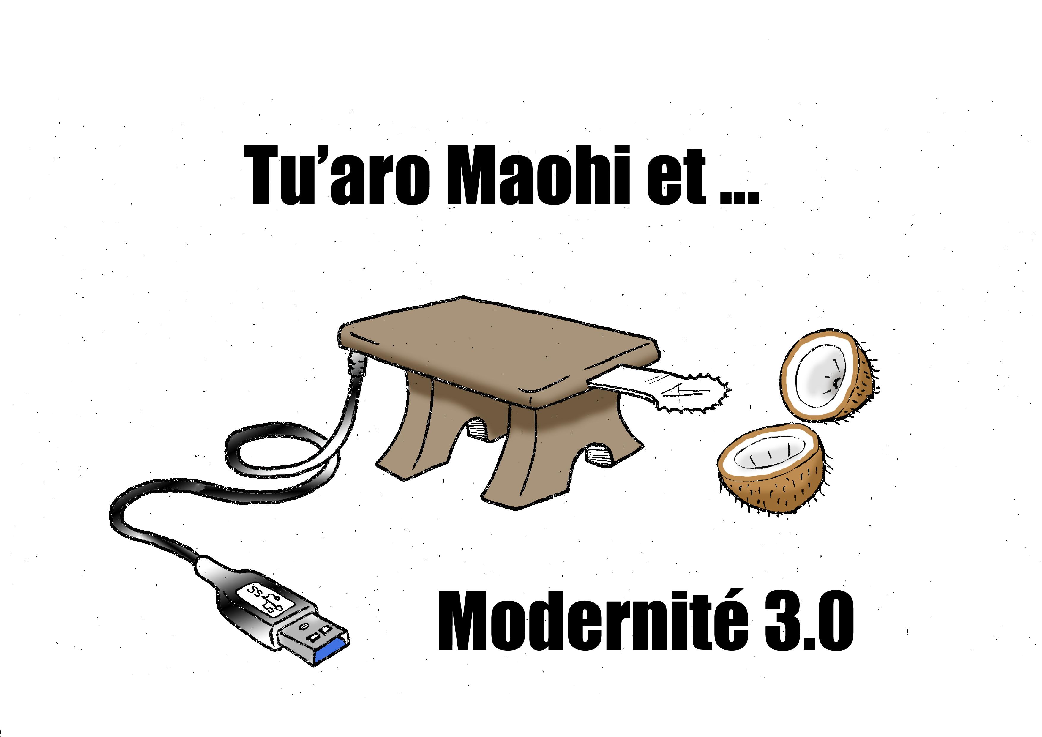 """""""Le tu'aro maohi"""" par Munoz"""