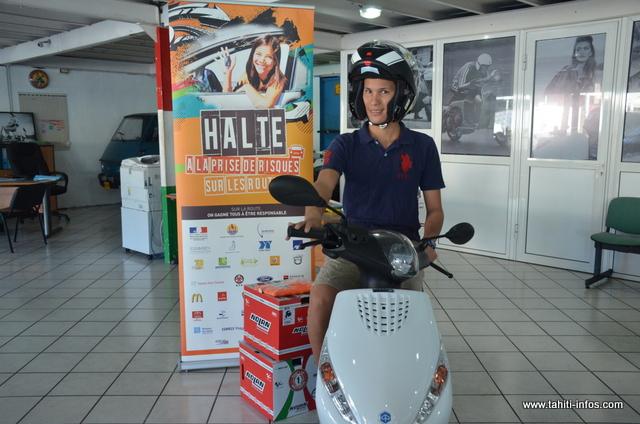 Halte à la prise de risques sur les routes : Ryan repart avec un scooter 50 cm3