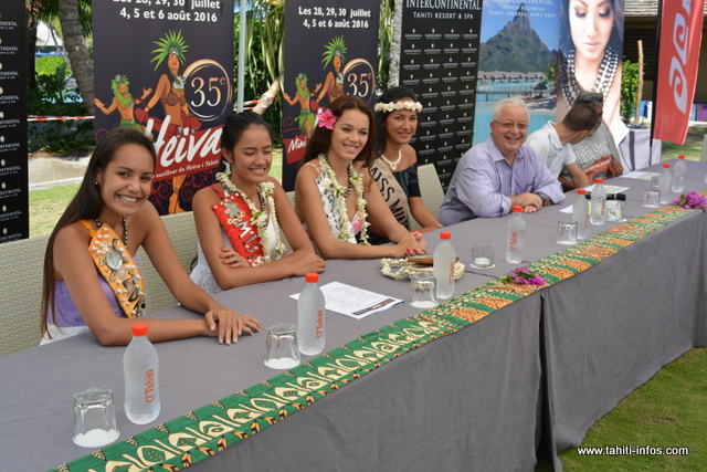La Miss Tahiti et ses dauphines ainsi que la Miss Mini Heiva 2015 seront également présentes à la 35e édition du Mini Heiva de l'Intercontinental Tahiti