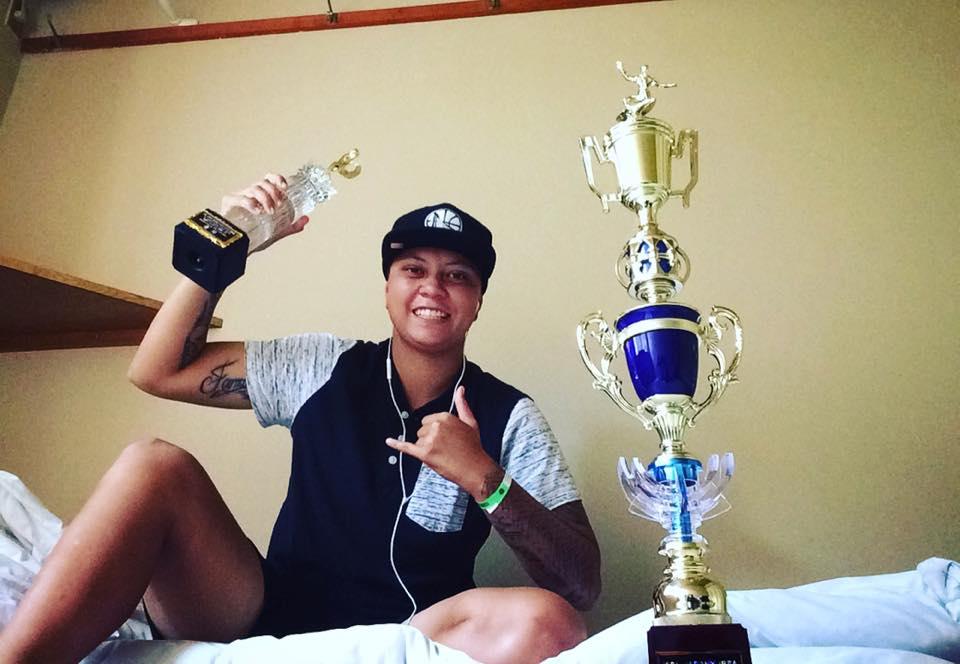 Karelle Poppke, la n°1 tahitienne vient de remporter une compétition WQS