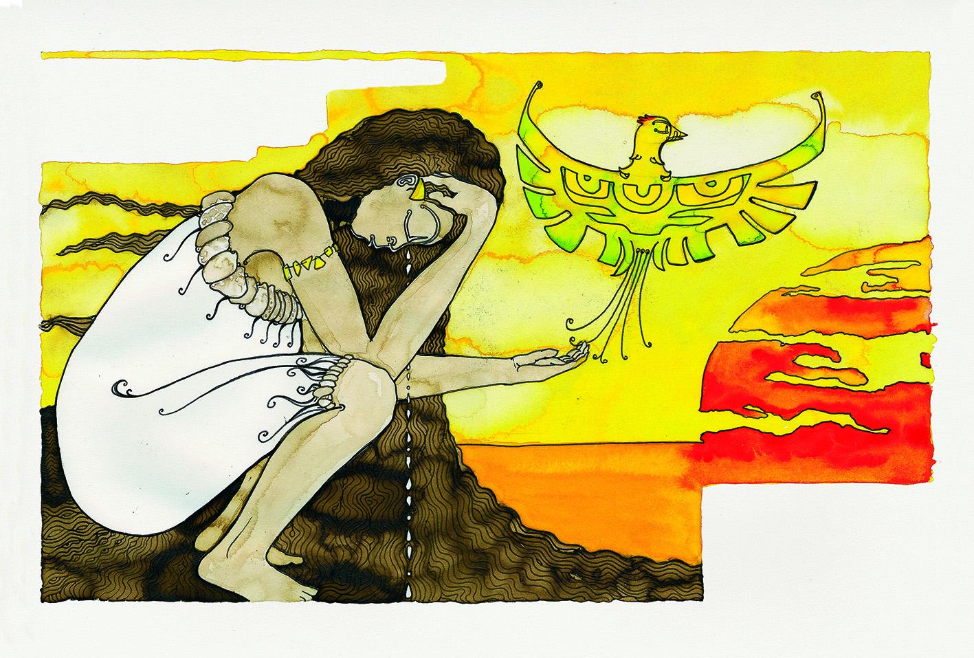 La femme-oiseau, ou comment la déesse Hina devint 'U'upa a Hina