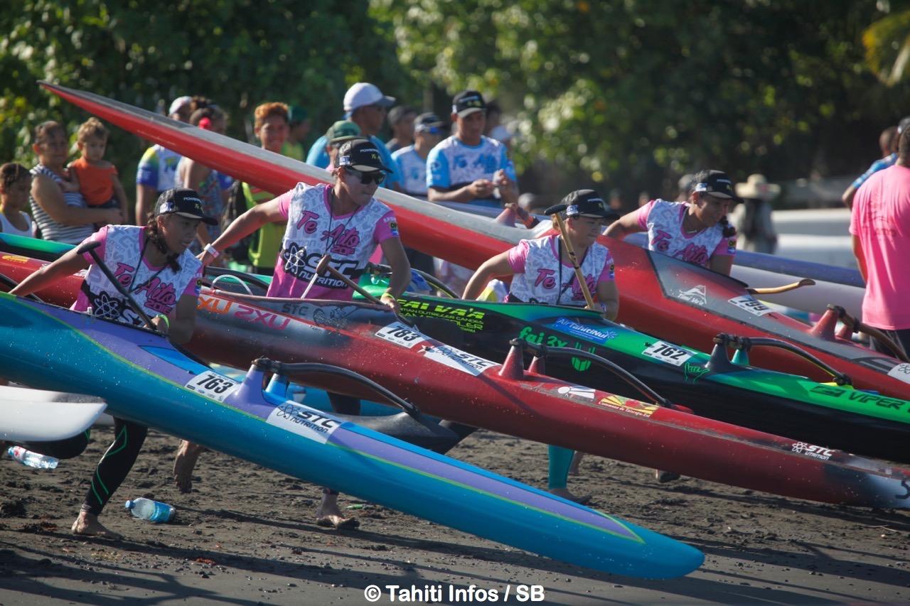 Hinatea Bernadino a mené la course des femmes du début à la fin