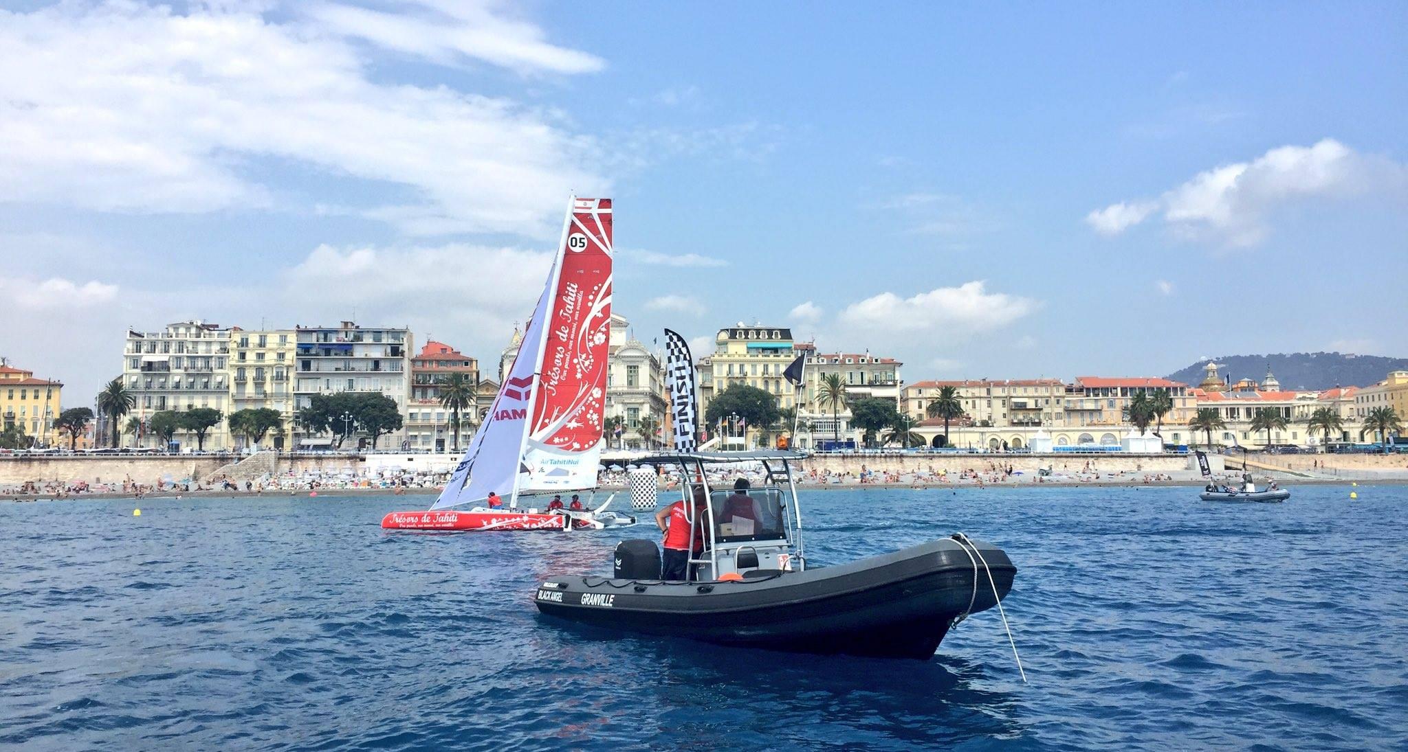 L'arrivée à Nice