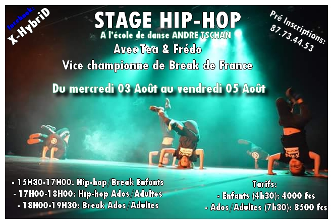 Stage de hip-hop break avec une vice-championne de France