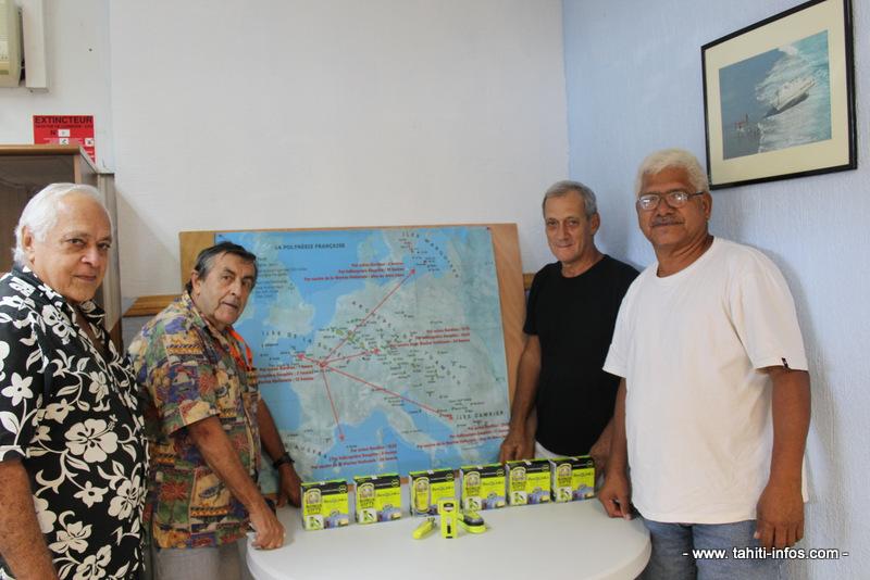 De gauche à droite : Claude Davio, vice-président de la FEPSM, Alain Côme, secrétaire général, Louis Picard, trésorier et Ragai Tenetevaiora, trésorier adjoint.