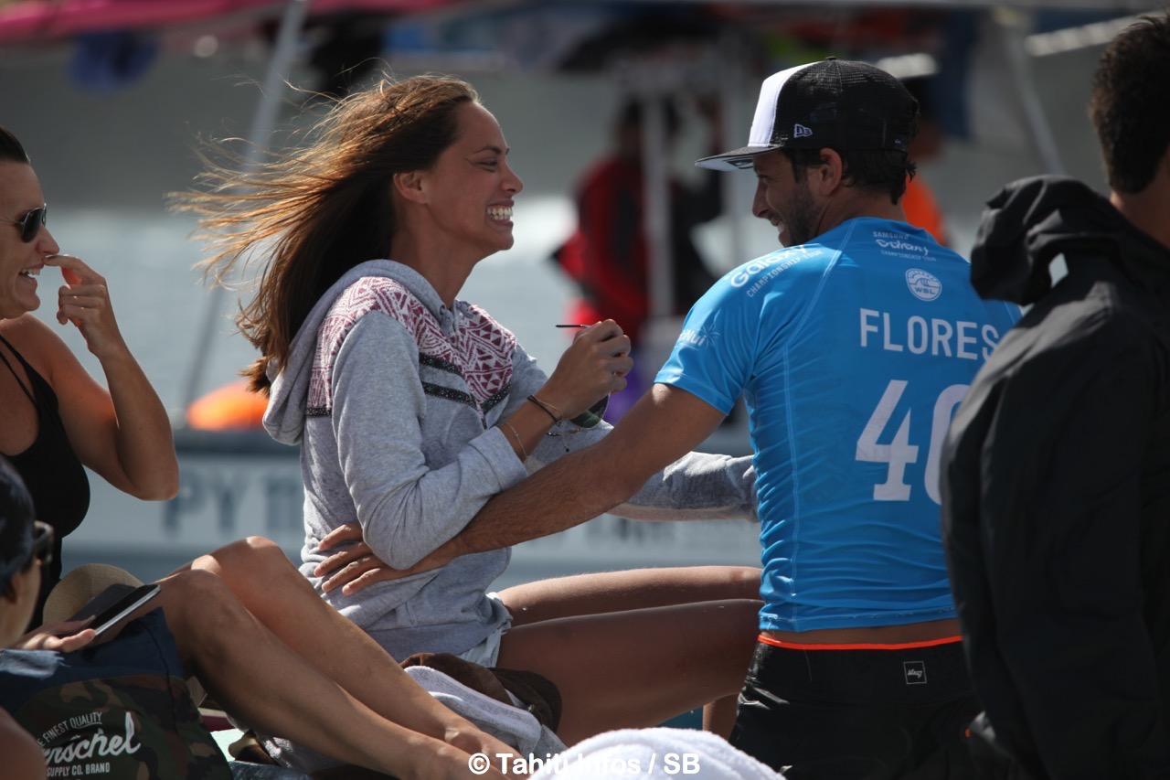 Jérémy Florès, ici avec Hinarani De Longeaux, est le tenant du titre