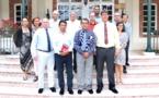 Le président du Congrès de Nouvelle-Calédonie en visite