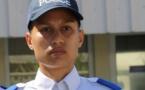 Raihau Mahutatua, major de promotion des cadets de la République