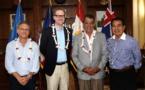 Edouard Fritch s'entretient avec le consul général d'Australie