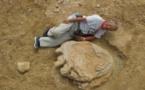 Une trace géante de pas de dinosaure découverte en Mongolie
