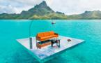 Des photos de mobilier sur le lagon de Bora Bora !