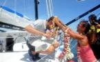Le Skipper Paul Meilhat accueilli en grande pompe à Papeete