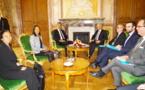 Marcel Tuihani rencontre Claude Bartolone, le président de l'Assemblée nationale