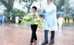 Une visite ministérielle qui commence sous la pluie