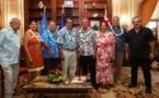 Le Président Edouard Fritch reçoit le 1er ministre des Iles Cook