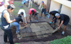 Un ahi ma'a pour la journée polynésienne du collège de Punaauia