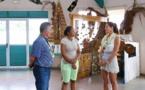 Mareva Marciano-Georges visite le foyer d'action éducative « Te Pare »